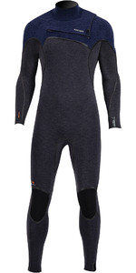 2020 Prolimit Mens Mercury 4/3mm TR Free-X Zip Wetsuit 14020 - Black /Blue