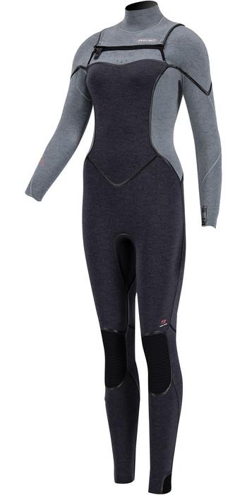2020 Prolimit Womens Oxygen TR 6/4mm Free Zip Wetsuit 15030 - Mist / Grey