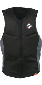 2019 Prolimit Half Padded Front Zip Slider Impact Vest Black / Orange 63032