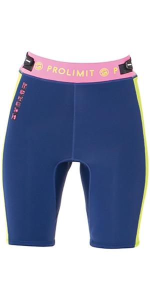 Prolimit Womens SUP 2mm Neoprene Shorts Blue / Pink 64770