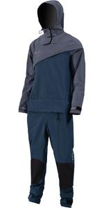 2021 Prolimit Mens Nordic Front Zip Hooded Drysuit 10000 - Steel Blue / Indigo