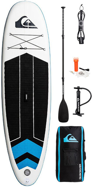 *2018 Quiksilver Isup 10'6 Inflatable Stand Up Paddle Board Blue Topaz Inc. Pump, Paddle, Bag & Leash Eglisqs106 Picture