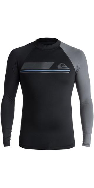 2018 Quiksilver Active Long Sleeve Rash Vest Black Eqywr03072 Picture