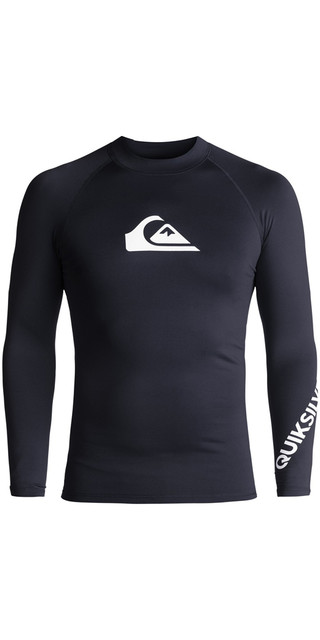 2018 Quiksilver All Time Long Sleeve Rash Vest Navy Blazer Eqywr03034 Picture