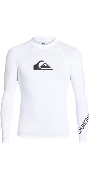 2018 Quiksilver All Time Long Sleeve Rash Vest WHITE EQYWR03034