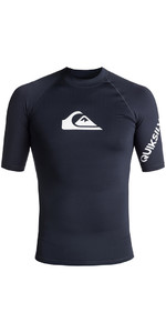 2018 Quiksilver All Time Short Sleeve Rash Vest NAVY BLAZER EQYWR03033