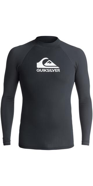 2018 Quiksilver Heater Long Sleeve Rash Vest Black Eqywr03078 Picture