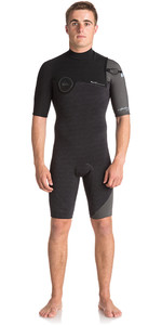 Quiksilver Highline Series 2mm Zipperless Shorty Wetsuit JET BLACK EQYW503007