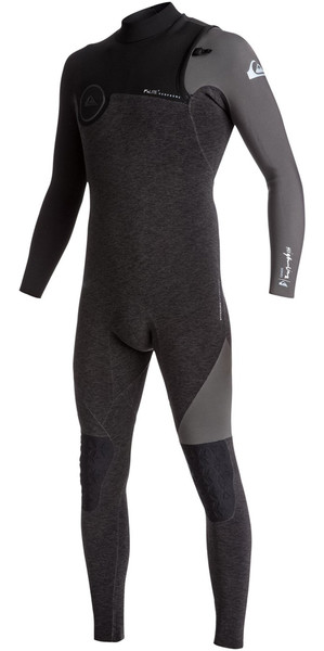 2018 Quiksilver Highline+ 3/2mm Chest Zip Wetsuit JET BLACK EQYW103049