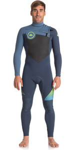 2018 Quiksilver Highline+ 4/3mm Chest Zip Hydrolock Wetsuit SLATE / PEWTER EQYW103047