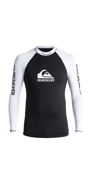 2018 Quiksilver On Tour Long Sleeve Rash Vest BLACK EQYWR03076