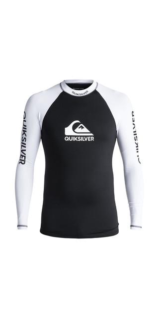 2018 Quiksilver On Tour Long Sleeve Rash Vest Black Eqywr03076 Picture