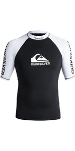 2018 Quiksilver On Tour Short Sleeve Rash Vest BLACK EQYWR03075