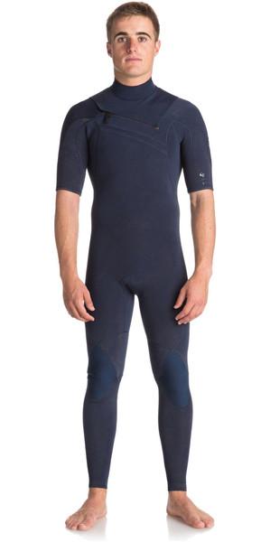 2018 Quiksilver Original Monochrome 2mm AZip Short Sleeve Wetsuit NAVY EQYW303008
