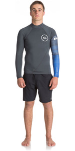 2018 Quiksilver Syncro New Wave 1mm Long Sleeve Neoprene Top GUNMETAL / ROYAL BLUE EQYW803007