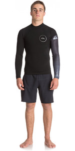 Quiksilver Syncro New Wave 1mm Long Sleeve Neoprene Top JET BLACK EQYW803007
