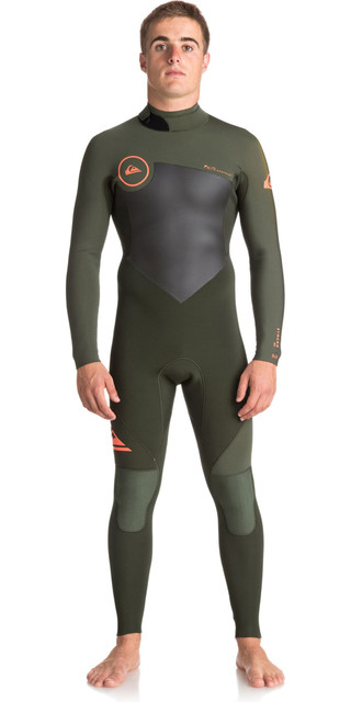 2018 Quiksilver Syncro Series 3/2mm Gbs Back Zip Wetsuit Dark Ivy Eqyw103037 Picture