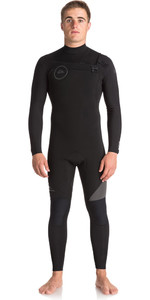 Quiksilver Syncro Series 4/3mm GBS Chest Zip Wetsuit JET BLACK EQYW103042