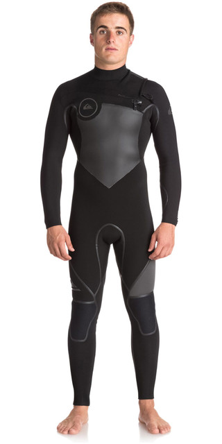 2018 Quiksilver Syncro+ 5/4/3mm Chest Zip Gbs Wetsuit Jet Black Eqyw103046 Picture