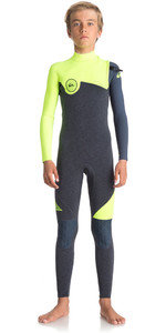 Quiksilver Boys Highline Series 3/2mm Zipperless Wetsuit HEATHER SLATE / SAFETY YELLOW EQBW103034