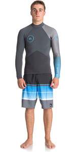 Quiksilver Highline Plus 2mm Long Sleeve GBS Neoprene Jacket GUNMETAL / ROYAL BLUE EQYW803009