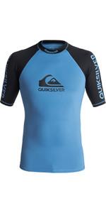 2018 Quiksilver On Tour Short Sleeve Rash Vest BRILLIANT BLUE / BLACK EQYWR03075