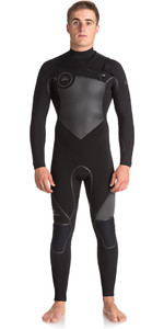 Quiksilver Syncro Plus 4/3mm Chest Zip Wetsuit JET BLACK EQYW103044