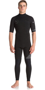 Quiksilver Syncro Series 2mm Short Sleeve Back Zip Wetsuit JET BLACK EQYW303005