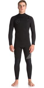 Quiksilver Syncro Series 4/3mm GBS Chest Zip Wetsuit JET BLACK EQYW103042