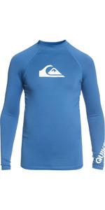 2018 Quiksilver Boys All Time Long Sleeve Rash Vest ELECTRIC BLUE EQBWR03047