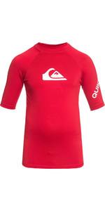 2018 Quiksilver Boys All Time Short Sleeve Rash Vest QUICK RED EQBWR03006