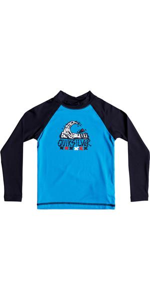 2018 Quiksilver Boys Bubble Dream Long Sleeve Rash Vest BLUE EQKWR03023