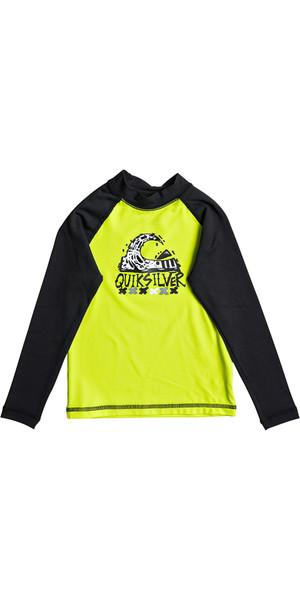 2018 Quiksilver Boys Bubble Dream Long Sleeve Rash Vest SAFETY YELLOW EQKWR03023