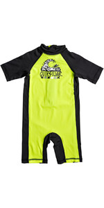 2018 Quiksilver Boys Bubble Spring Rash Suit SAFETY YELLOW EQKWR03021
