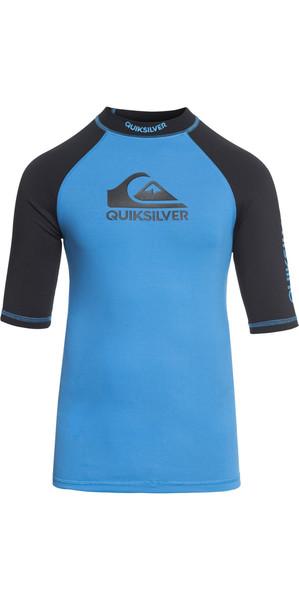 2018 Quiksilver Boys On Tour Short Sleeve Rash Vest BRILLIANT BLUE EQBWR03039