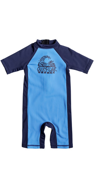 2018 Quiksilver Boys Thermo Spring Rash Suit BLUE EQKWR03022