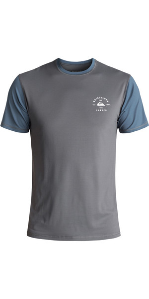 2018 Quiksilver Color Blocked Short Sleeve Surf Tee NAVY EQYWR03089