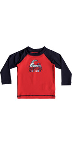 2018 Quiksilver Infant Bubble Dream Long Sleeve Rash Vest QUIK RED EQIWR03013