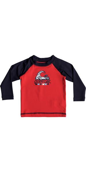 2018 Quiksilver Infant Bubble Dream Long Sleeve Rash Vest QUIK RED EQIWR03013