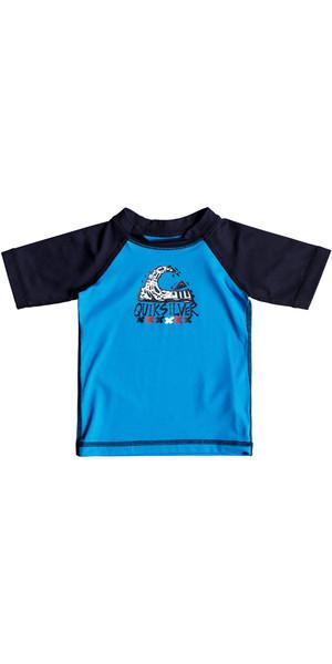 2018 Quiksilver Infant Bubble Dream Short Sleeve Rash Vest BLUE EQIWR03014