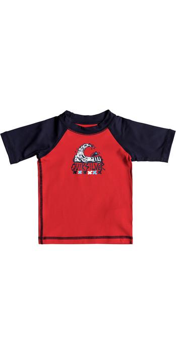 Quiksilver Infant Bubble Dream Short Sleeve Rash Vest QUIK RED EQIWR03014