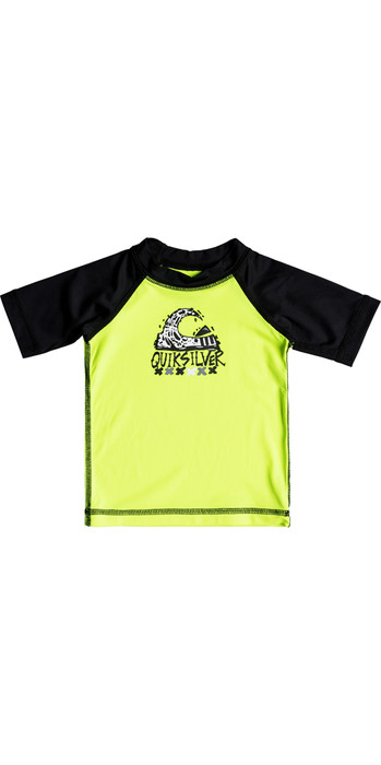 Quiksilver Infant Bubble Dream Short Sleeve Rash Vest SAFETY YELLOW EQIWR03014