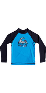 Quiksilver Boys Bubble Dream Long Sleeve Rash Vest BLUE EQKWR03023