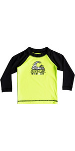 Quiksilver Infant Bubble Dream Long Sleeve Rash Vest SAFETY YELLOW EQIWR03013