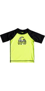 Quiksilver Infant Bubble Dream Short Sleeve Rash Vest SAFETY YELLOW EQIWR03014