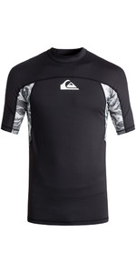 Quiksilver Slash Short Sleeve Rash Vest BLACK EQYWR03090