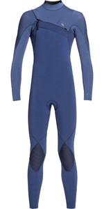 2020 Quiksilver Junior Boys Highline 4/3mm Azip Ltd Wetsuit Iodine Blue / Cascade Blue EQBW103045
