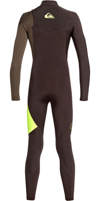 2019 Quiksilver Junior Boys Highline Lite 4/3mm Zipperless Wetsuit Velvet Brown / Dark Beech EQBW103035
