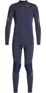 2021 Quiksilver Junior Boys Syncro 3/2mm Chest Zip Wetsuit EQBW103051 - Black Navy