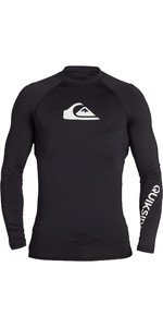 2021 Quiksilver Mens All Time Long Sleeve Rash Vest EQYWR03240 - Black